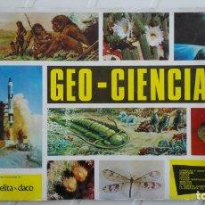 Coleccionismo Álbumes: ALBUM DE CROMOS GEO - CIENCIAS, FALTAN 45 CROMOS DE 343. Lote 175276957
