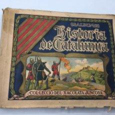 Coleccionismo Álbumes: ALBUM DE CROMOS HISTORIA DE CATALUNYA. COL-LECCIÓ DEL XACOLATA JUNCOSA. ANYS 30. XOCOLATA. Lote 175522694