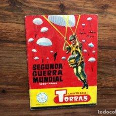 Coleccionismo Álbumes: ALBUM SEGUNDA GUERRA MUNDIAL 1939 -1945 CHOCOLATES TORRAS. INCOMPLETO. CONTIENE 39 CROMOS. Lote 175632928
