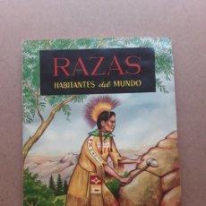 Coleccionismo Álbumes: ALBUM RAZAS HABITANTES DEL MUNDO,EDICIONES FERCA. Lote 175771393
