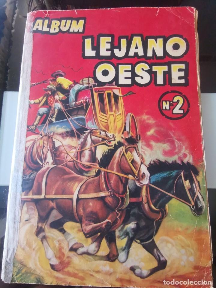 ÁLBUM CROMOS LEJANO OESTE 2 ED. GENERALES FALTAN 2 CROMOS (Coleccionismo - Cromos y Álbumes - Álbumes Incompletos)