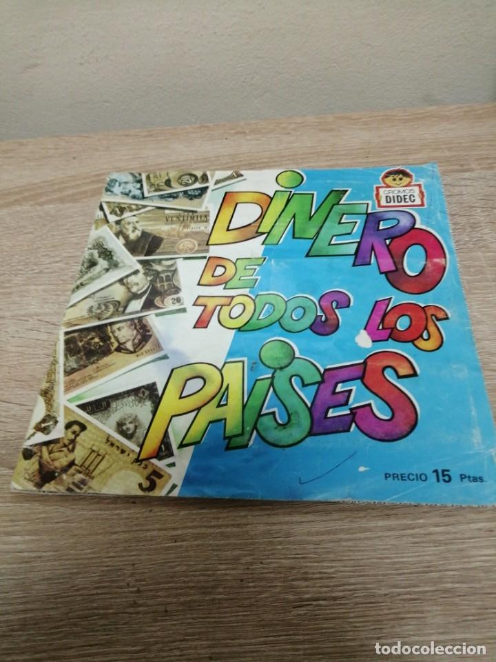ALBUM DINERO DE TODOS, LOS PAÍSES FALTAN, DOS CROMOS (Coleccionismo - Cromos y Álbumes - Álbumes Incompletos)