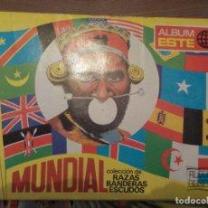 Coleccionismo Álbumes: MUNDIAL , RAZAS, BANDERAS, ESCUDOS. Lote 176510184