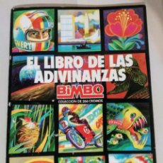 Collectionnisme Albums: ALBUM EL LIBRO DE LAS ADIVINANZAS BIMBO VACIO A COMPLETAR CON 9 CROMOS PARA PEGAR 1ª EDICIÓN 1974. Lote 176516713