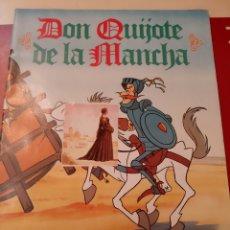 Coleccionismo Álbumes: ALBUM CON 7 CROMOS DON QUIJOTE DE LA MANCHA DANONE 1978. Lote 176971179