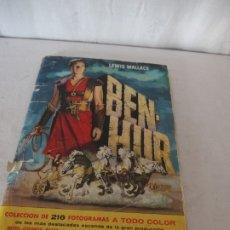 Coleccionismo Álbumes: ALBUM CROMOS BEN HUR, 1960. Lote 177005849