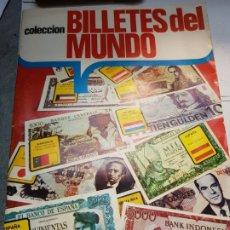 Coleccionismo Álbumes: ALBUM CASI COMPLETO BILLETES DEL MUNDO SOLO FALTAN 5 EDICIONES ESTE 1974. Lote 177043919