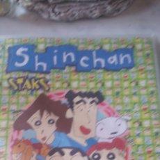 Coleccionismo Álbumes: SHIN CHAN STAKS. ALBUM + 92 STAKS. PANINI. Lote 177369693