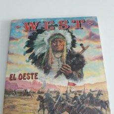 Coleccionismo Álbumes: ALBUM WEST EL OESTE - PANINI - PRECINTADO CON FORT APACHE PARA MONTAR NUEVO 1992. Lote 177745482
