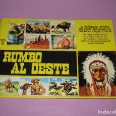 Coleccionismo Álbumes: ANTIGUO ÁLBUM RUMBO AL OESTE DE EDITORIAL COMIC CROMO DEL AÑO 1981. Lote 177943173