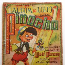 Coleccionismo Álbumes: ALBUM 1944 PINOCHO FHER WALT DISNEY. FALTAN 10 CROMOS, TIENE 230. Lote 178048340