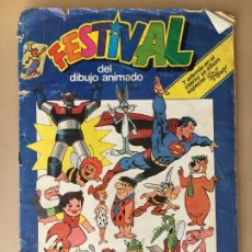 Coleccionismo Álbumes: ÁLBUM DE CROMOS INCOMPLETO FESTIVAL DEL DIBUJO ANIMADO - 1981 - PACOSA DOS - MADE IN SPAIN. Lote 178351942