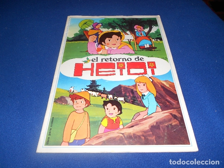 ÁLBUM EL RETORNO DE HEIDI (DISGRA-FHER) 1975 COMPLETO (Coleccionismo - Cromos y Álbumes - Álbumes Incompletos)