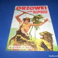 Coleccionismo Álbumes: ALBUM CROMOS ORZOWEI - PRODUCTOS BIMBO 1978 MUY BUEN ESTADO. Lote 178592907
