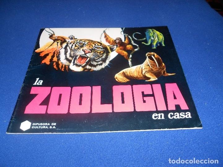 ÁLBUM LA ZOOLOGÍA EN CASA VACIO PLANCHA (Coleccionismo - Cromos y Álbumes - Álbumes Incompletos)