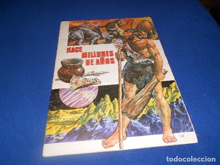 ALBUM DE CROMOS HACE MILLONES DE AÑOS NO COMPLETO 1971 (Coleccionismo - Cromos y Álbumes - Álbumes Incompletos)