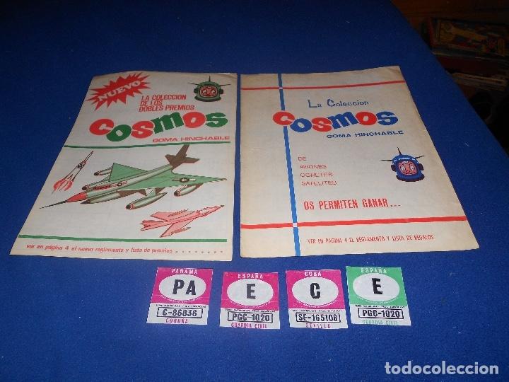 2 ÁLBUM VACÍO COSMOS GOMA HINCHABLE CHICLE COLECCIÓN DE LOS GRANDES PREMIOS 1969 MUY BUEN ESTADO (Coleccionismo - Cromos y Álbumes - Álbumes Incompletos)