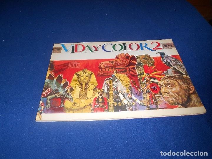 ANTIGUO ÁLBUM VIDA Y COLOR 2 NO COMPLETO VACIO DE ALMACEN AÑO 1969 - (Coleccionismo - Cromos y Álbumes - Álbumes Incompletos)