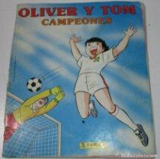 Coleccionismo Álbumes: ÁLBUM CROMOS OLIVER Y TOM CAMPEONES, PANINI 1991, CON 222 CROMOS DE 240. Lote 178623240