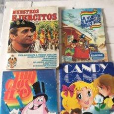 Coleccionismo Álbumes: LOTE ÁLBUMES CROMOS AÑOS 80. Lote 178858502