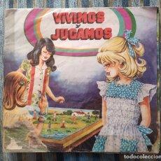 Coleccionismo Álbumes: ALBUM DE CROMOS VIVIMOS Y JUGAMOS (CASI COMPLETO) (MAGA 1981). Lote 179022556