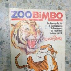 Coleccionismo Álbumes: ANTIGUO ALBUM DE CROMOS BIMBO ZOOBIMBO VACIO. Lote 179102602