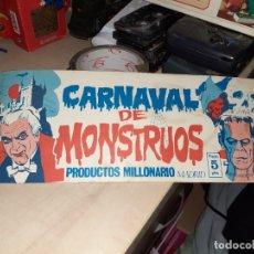 Coleccionismo Álbumes: ALBUM CARNAVAL DE MONSTRUOS.PRODUCTOS MILLONARIO.MADRID AÑOS 70.CON 39 CROMOS DE 96.DIFÍCIL.. Lote 179230792
