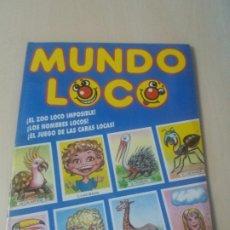 Coleccionismo Álbumes: ALBUM MUNDO LOCO - CROMOS EYDER - 1990 - INCOMPLETO CON 63 CROMOS -. Lote 179377681