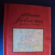 Coleccionismo Álbumes: (AL-191050)ALBUM CROMOS SOLSONA GALLETAS Y CHOCOLATES - PAISES - FALTAN 2 - BUENA CONSERVACION. Lote 179404288