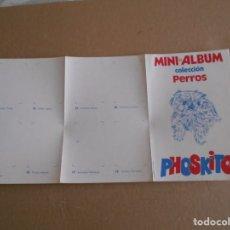 Coleccionismo Álbumes: ALBUM DE CROMOS PLANCHA DE PHOSKITOS -COLECCION PERROS. Lote 179959511