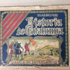 Coleccionismo Álbumes: HISTORIA DE CATALUNYA JUNCOSA 140 CROMOS . Lote 180126277