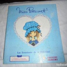 Coleccionismo Álbumes: ALBUM MISS PETTICOAT.LAS ESTACIONES DE LA FELICIDAD.SOLO TIENE 57 DE 180 CROMOS. Lote 180182776