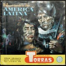 Coleccionismo Álbumes: ALBUM CROMOS CHOCOLATE TORRAS PANORAMICA DE AMERICA LATINA -20 CROMOS. Lote 180202662