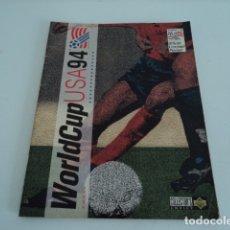 Coleccionismo Álbumes: ALBUM DE CROMOS DE FUTBOL WORLD CUP USA 94 COLLECTORS INCOMPLETO MUY BUEN ESTADO. Lote 182072970