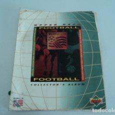 Coleccionismo Álbumes: MAGNIFICO ALBUM FUTBOL ANTIGUO FOOTBALL WORLD CUP USA 94 UPPER DECK INCOMPLETO. Lote 182074295