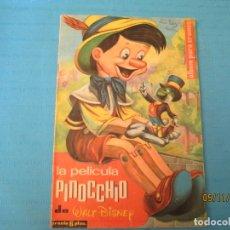 Coleccionismo Álbumes: LA PELICULA PINOCCHIO WALT DISNEY FHER 1962 TAMBIEN CROMOS SUELTOS . Lote 182253748