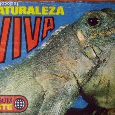 Coleccionismo Álbumes: NATURALEZA VIVA ALBUM ESTE . 144 CROMOS, FALTA 30 %. Lote 182330163