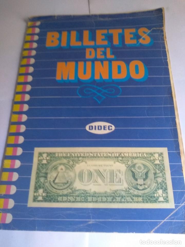 ALBUM INCOMPLETO, BILLETES DEL MUNDO CON 174 CROMOS (Coleccionismo - Cromos y Álbumes - Álbumes Incompletos)