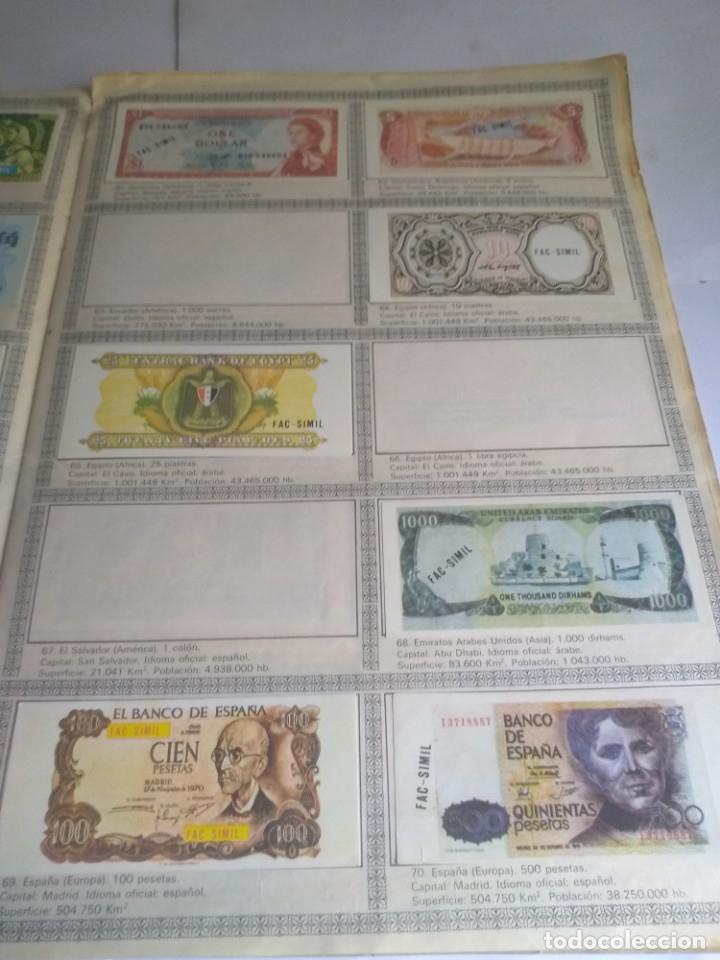 Coleccionismo Álbumes: Album incompleto, Billetes del mundo con 174 cromos - Foto 2 - 182481416