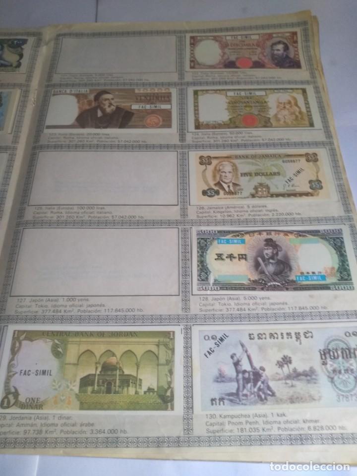 Coleccionismo Álbumes: Album incompleto, Billetes del mundo con 174 cromos - Foto 4 - 182481416