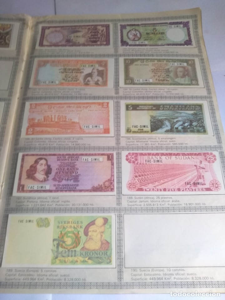 Coleccionismo Álbumes: Album incompleto, Billetes del mundo con 174 cromos - Foto 6 - 182481416