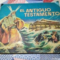 Coleccionismo Álbumes: ALBUM EL ANTIGUO TESTAMENTO CASI COMPLETO FALTAN 3 CROMOS. Lote 182665812
