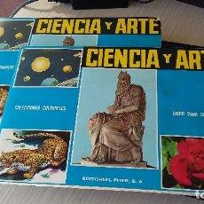 Coleccionismo Álbumes: 2 ALBUNES CIENCIAS Y ARTE, EDITORIAL FHER, INCOMPLETO, FALTADO 4 Y 78. Lote 182694641