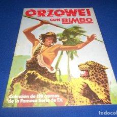 Coleccionismo Álbumes: ALBUM CROMOS VACIO PLANCHA BIEN CONSERVADO DE ORZOWEI -BIMBO. Lote 182702665