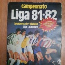 Coleccionismo Álbumes: ALBUM LIGA 81-82 CON 24 CROMOS (3FICHAJES) LEER DESCRIPCIÓN. Lote 182811542