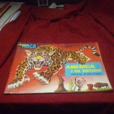 Coleccionismo Álbumes: ALBUM MAGA AMERICA Y SUS HABITANTES AÑO 1968. Lote 182911070