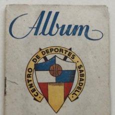 Coleccionismo Álbumes: ALGÚN DEL CENTRO DE DEPORTES SABADELL - GRAFOTO - AÑO 1946 - FUTBOL. Lote 182984426