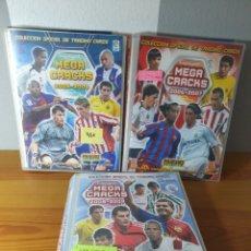 Coleccionismo Álbumes: LOTE 3 ALBUMES MEGACRACKS 2005-2006 / 2006-2007 Y 2008-2009 BASTANTE COMPLETOS. Lote 183002512