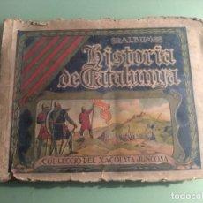 Coleccionismo Álbumes: ANTIGUO ALBUM HISTORIA DE CATALUNYA DE XACOLARA JUNCOSA AÑOS 30. Lote 183024625