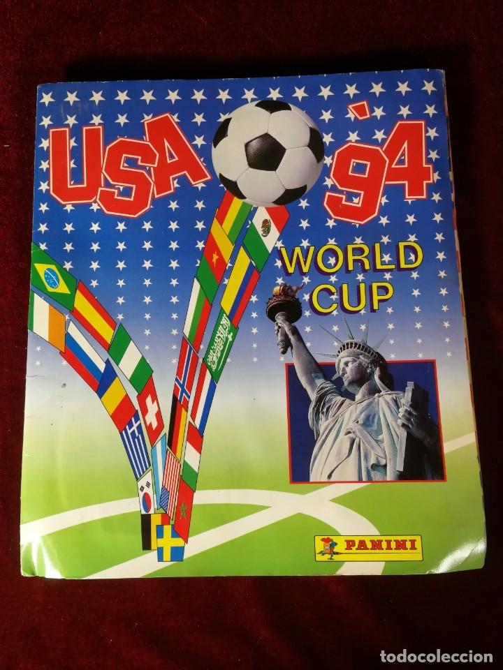 ALBUM CROMOS INOMPLETO - PANINI USA '94 WORLD CUP MUNDIAL FUTBOL (FALTAN 29 DE 444 CROMOS) (Coleccionismo - Cromos y Álbumes - Álbumes Incompletos)